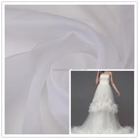 Cheap Wholesale Wedding bridal dress Soft 100% Polyester 2080 Organza