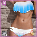 Hot !! Fringe Top Bikini PP4201 baratos Belleza Mujeres favor set acolchada Boho Fringe Top sin tirantes Bikini