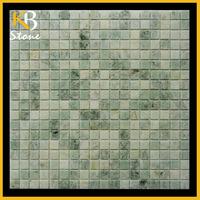 "1"" Hexagon Mosaic Tile Honed green marble mosaic tile"
