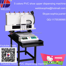 5 colors automatic PVC dispensing machine for shoe cover