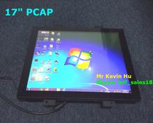 "HDF 17"" p-cap touch screen monitor / usb dvi vga interfaces / ce fcc rohs ul certificates"