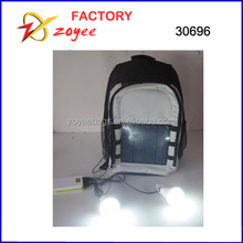 new design solar backpack with 2 bulb light solar panel backpack zoyeebags