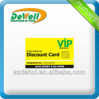 instant plastic pvc contactless vip id card with chip
