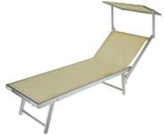 Folding Beach Lounge Chair Sun Lounge Chair With Sunshade