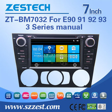 New arrival 7 inch car dvd car radio support BT am/fm car mp4 player for BMW E90 91 92 93 manual condition zt-bm7032