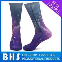 sublimation sock man/custom sublimate sock/digital print sock