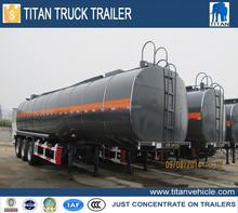 TITAN widely used oil tanker trailer, fuel tanker semi trailer, double hull oil tanker
