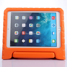For iPad Air 2 EVA foam silicone cover case, For iPad 6 tab stand handle cases cover for kids, shockproof back case for iPad