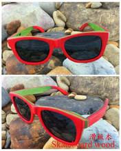 latest fashion skateboard wood sunglasses china with lower MOQ and price