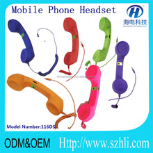 Cheap! China Factory supply fashionable color retro mobile phone handset/the best healthy gift for your Relatives and friends