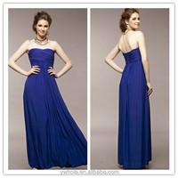 2015 Bohemia Cheap Sexy Strapless Blue Maxi Alibaba Wedding Dress