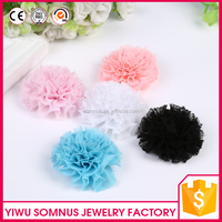 5.5CM Stcock wall hanging artificial flowers import china silk hand work flowers accessories