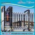 Grades e portões de casas de automação porta telescópica