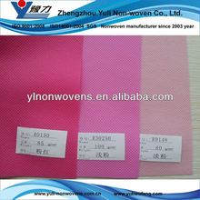 White and colorful nonwoven fabrics with aperture