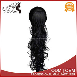 Quality guaranteed kids ponytail hair extension , 30 inch synthetic hair extension, 22 inch micro braiding hair