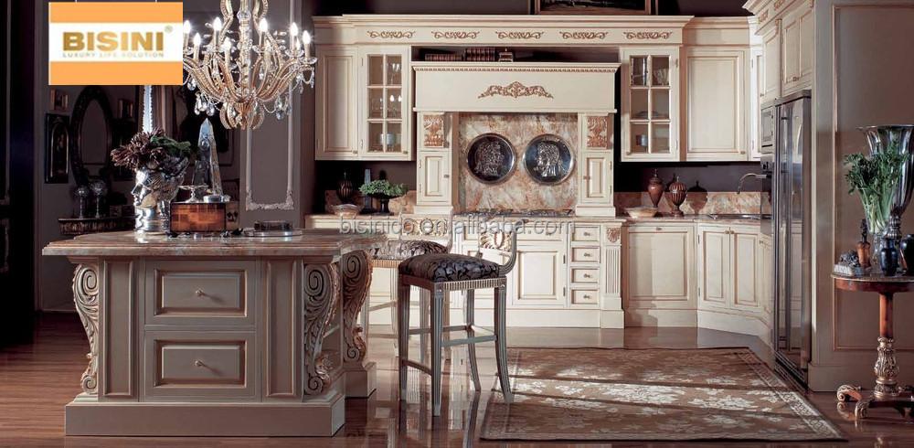 luxe champagne armoires de cuisine en bois style victorien meubles de cuisine ensemble. Black Bedroom Furniture Sets. Home Design Ideas