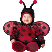 walson100% organic cotton made in china ladybird romper baby clothes