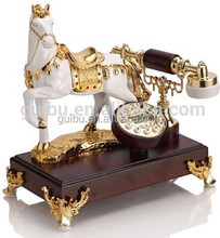 fashion design gold horse and very unqie design corded telephone for home decor or office or giftsYL