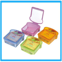Plastic Colorful Sandwich Box / Containers For Packing