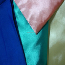 100% polyester fashionable satin fabric stretch satin fabric for dress