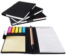 Eco pocket notebook with sticky notes pen