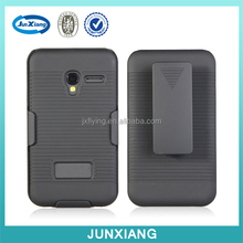Hot and new arrival hard plastic holster combo kickstand case cover for Alcatel pixi 3/4003a