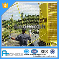 Made In Guangdong RP temporary fence post base , temporary fence free standing fencing