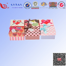 Colorful printing gift box lid and bottom manufacture cute bowknot wave point