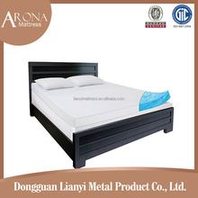 chinese factory king roll up green High density cool gel memory foam mattress topper