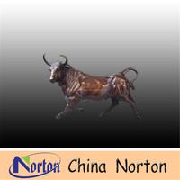 Wall street cast bronze bull sculpture NTBH-B063R