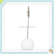 Wholesale clear ball shape photo memo holder plastic memo clip/OEM clear plastic memo clip holder factory