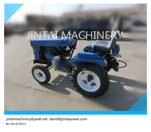 china factory supply 15HP mini farm garden tractor, with plough and trailer