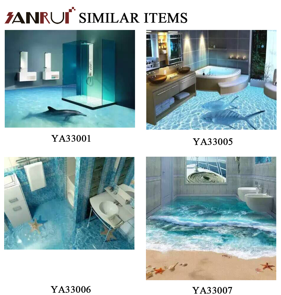 New Beach Design Ceramic Floor Bathroom Tile 3d Flooring - Buy 3d ...