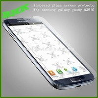 HD Oleophobic coating tempered glass screen protector for samsung galaxy young s3610