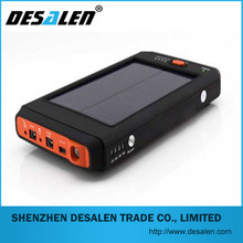 2014 newest OEM 11200mah solar charger power bank for outdoor emergency using