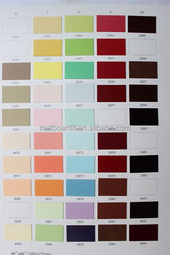 Colour Catalog : ... in fabric, linen, solid color, metal color.... (matboard catalog