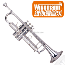 Wisemann DTR-800SP silver plated Bb professional Trumpet