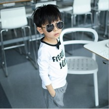 DB006 Factory Price 2 to 7 Years Old Children Printed Boy T-shirt