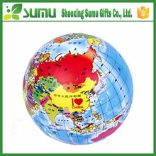PVC great quality new arrival inflatable world map beach ball