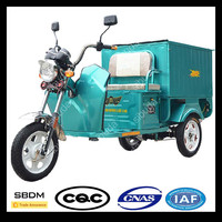 SBDM Closed Cabin Battery Powered Tricycle Cargo