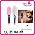 Más nueva venta portátil eléctrico Magic Hair Straighting herramientas de pelo iónica enderezar Comb