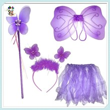 Wand Tutu Boppers Set Cheap Party Kids Girls Fairy Butterfly Wings HPC-0860