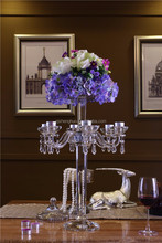 Romantic Crystal Candelabra with Flower Stand for Tacoration Decoration---SH-1535