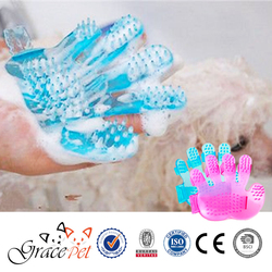 Pet Cleaning & Grooming Products Soft Plastic Material Pet Massage Brush