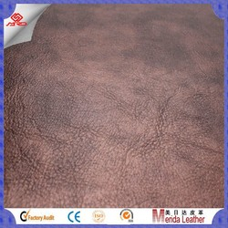 MRD3833 high quality Vintage Brush-off Effect PVC Artificial Leather For Sofa