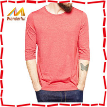 2014 autumn novel design plain color t-shirts wholesale from China/ling sleeve t shirt