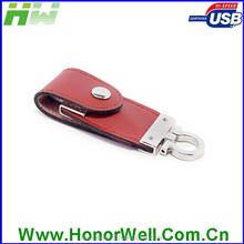 Customized leather usb flash drive 16 gb