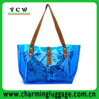 Custom pvc lady handbag