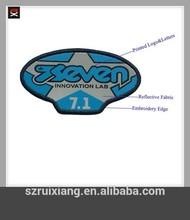 reflexivo tejido el logotipo impreso y bordado de parches
