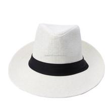 Unisex Fedora Trilby Cap Cowboy Summer Beach Sun Straw Hats